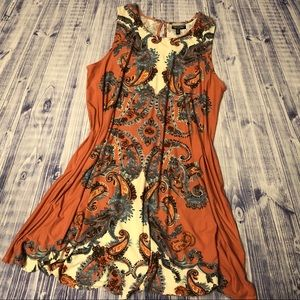 NWOT Plus Size Coral Paisley A-Line Dress